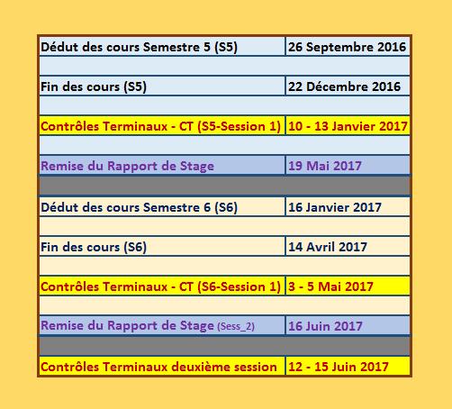 Calendrier Pedagogique.Ulf Licence L3 Mht L3 Mv Calendrier Pedagogique 2016 2017